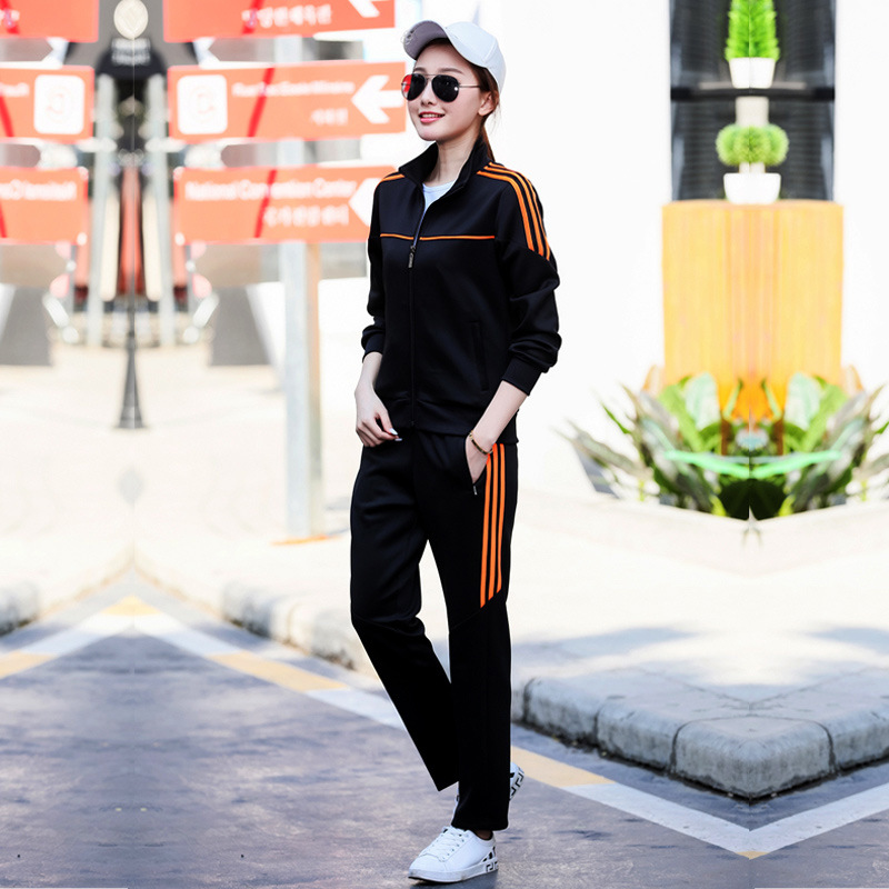 Couples Sports Clothing Set 2019 Spring And Autumn Youth New Style Outdoor Running MEN'S Suit WOMEN'S Sports Suit Fashion