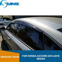 Sun Shade Awnings Shelters Guards For HONDA ACCORD 2014-2018 Sedan Car door visor For HONDA ACCORD 2014 2015 2016 2017 2018 SUNZ цена