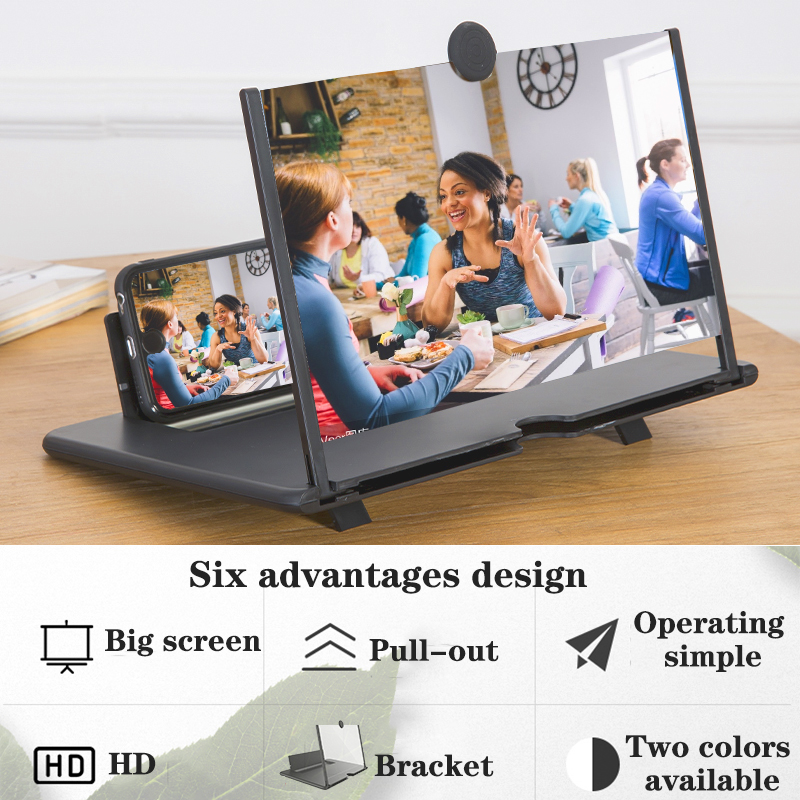 Orsda 14-inch 3d phone screen amplifier HD Eyes Protection Display Video  universal Screen Amplifier Support all smart phone 2