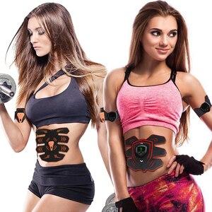 Image 5 - قابلة للشحن EMS الصحة البطن العضلات محفز الكهربائية فقدان الوزن مدلك الرياضة المدرب سليم الهزاز ملصق للجنسين