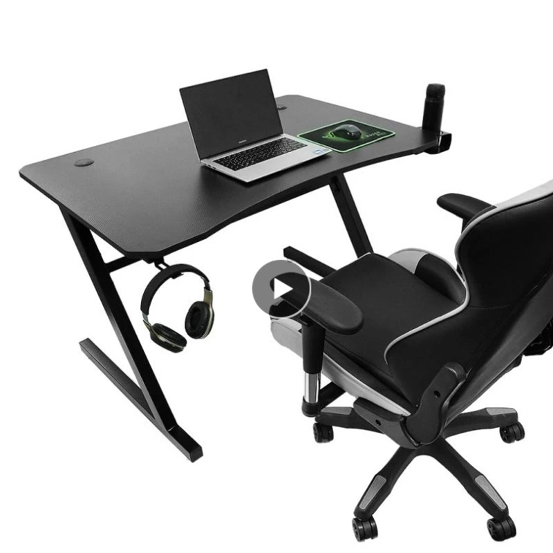 E-sports Game Table With Cup Holder + Headphone Holder Z Type Tilt For Bedroom Living Room Office Studio Modern Simple Design