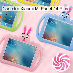 Image 3 - Silicone Case for Xiaomi Mi Pad 4 plus 10.1 Soft Cute Stand Kids Tablet Cover for Xiaomi Mipad 4 Case Mi Pad4 8 inch
