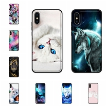 For Apple iPhone X 10 Ten A1865 Case Soft TPU Leather XS A2097 A1920 Cover Cat Patterned Capa