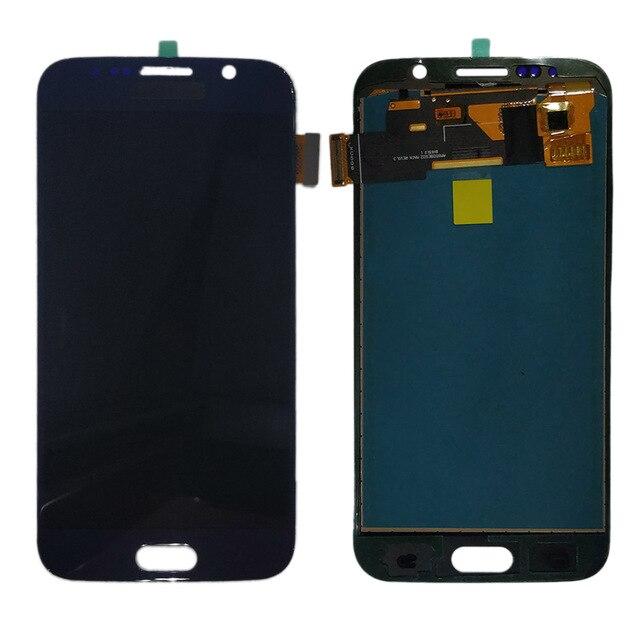 G920f Samsung LCD GALAXY S6 G920 G920F lcd ekran dokunmatik ekranlı sayısallaştırıcı grup için hiçbir çerçeve Samsung S6 TFT lcd ekran