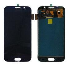 G920f lcd עבור סמסונג גלקסי S6 G920 G920F LCD תצוגת מסך מגע Digitizer עצרת ללא מסגרת לסמסונג S6 TFT LCD תצוגה