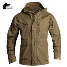 New Men'sTactical Trench Coat Male Military M65 Trench Water