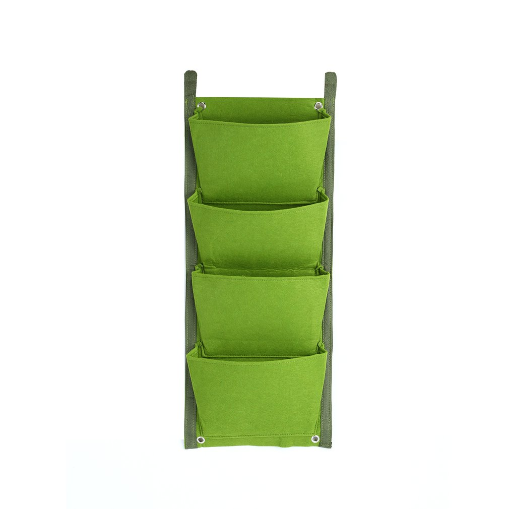 4/7 Pockets Planting Bags Vertical Hanging Wall Plant Growth Bag Yard Garden Decoration Tools 30*70cm/100*30cm