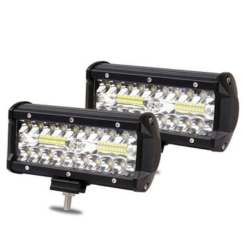 7 Inch 120W Combo Led Light Bars Spot Flood Beam 4x4 Spot 12V 24V 4WD Barra LED Headlight For Auto Parts 1
