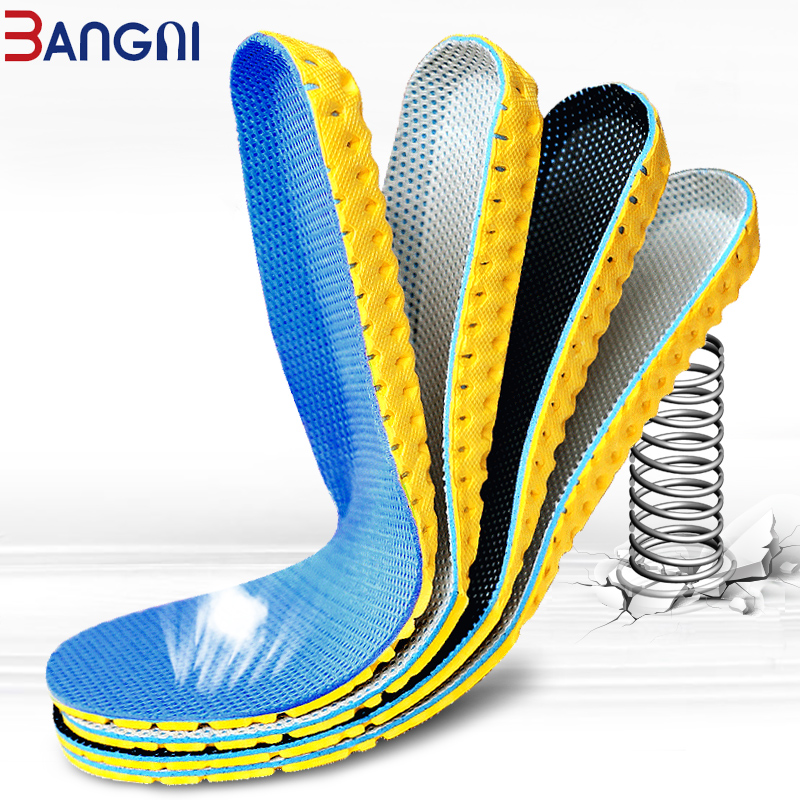 3ANGNI 1 Pair Breathable Elastic Insoles EVA Sports Arch Support Soft Shoe Pad Insert For Woman Men Feet Sneaker