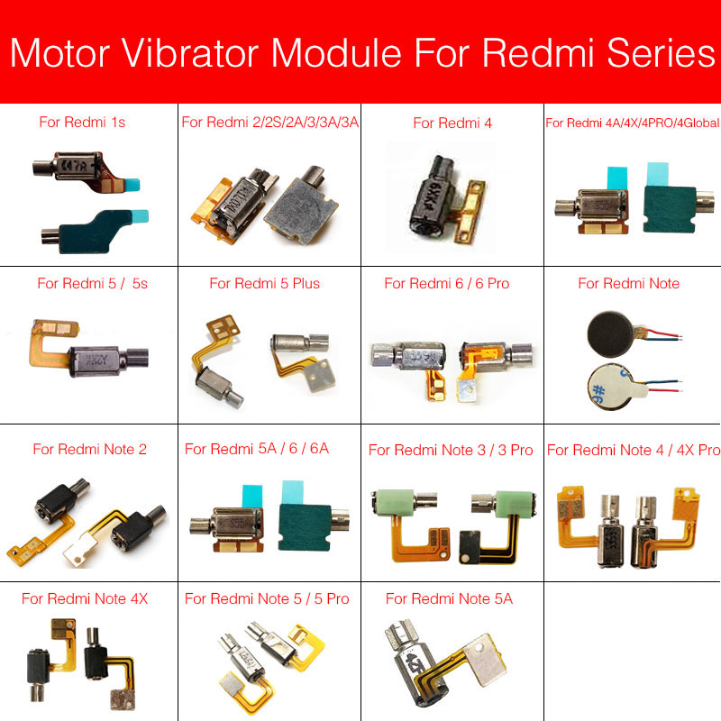 Motor Vibrator Flex Cable For Xiaomi Redmi Note 1s Singal Dual 2 2S 2A 3 3S 3A 4 4A 4X 5 5S 5A 6 6A Plus Pro Global Vibrator