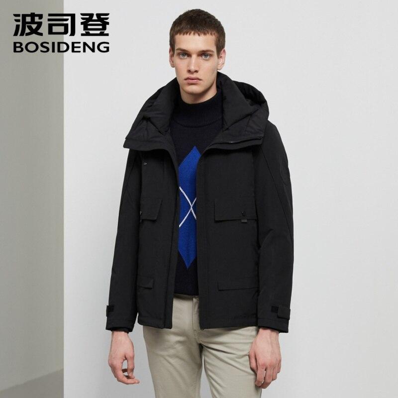 Bosideng Men's New Fashion Down Coat Short Hooded Jacket Style Warm Coat B90131511DS