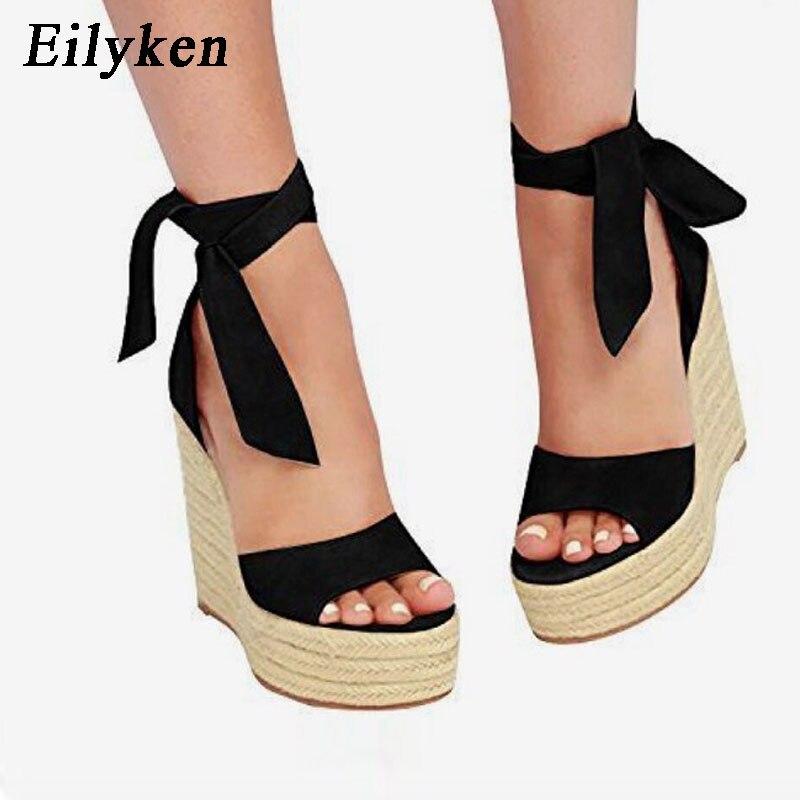 Womens Roman Woven Buckle Sandals Shoes Wedge Platform Beach BOHO Cross Strap
