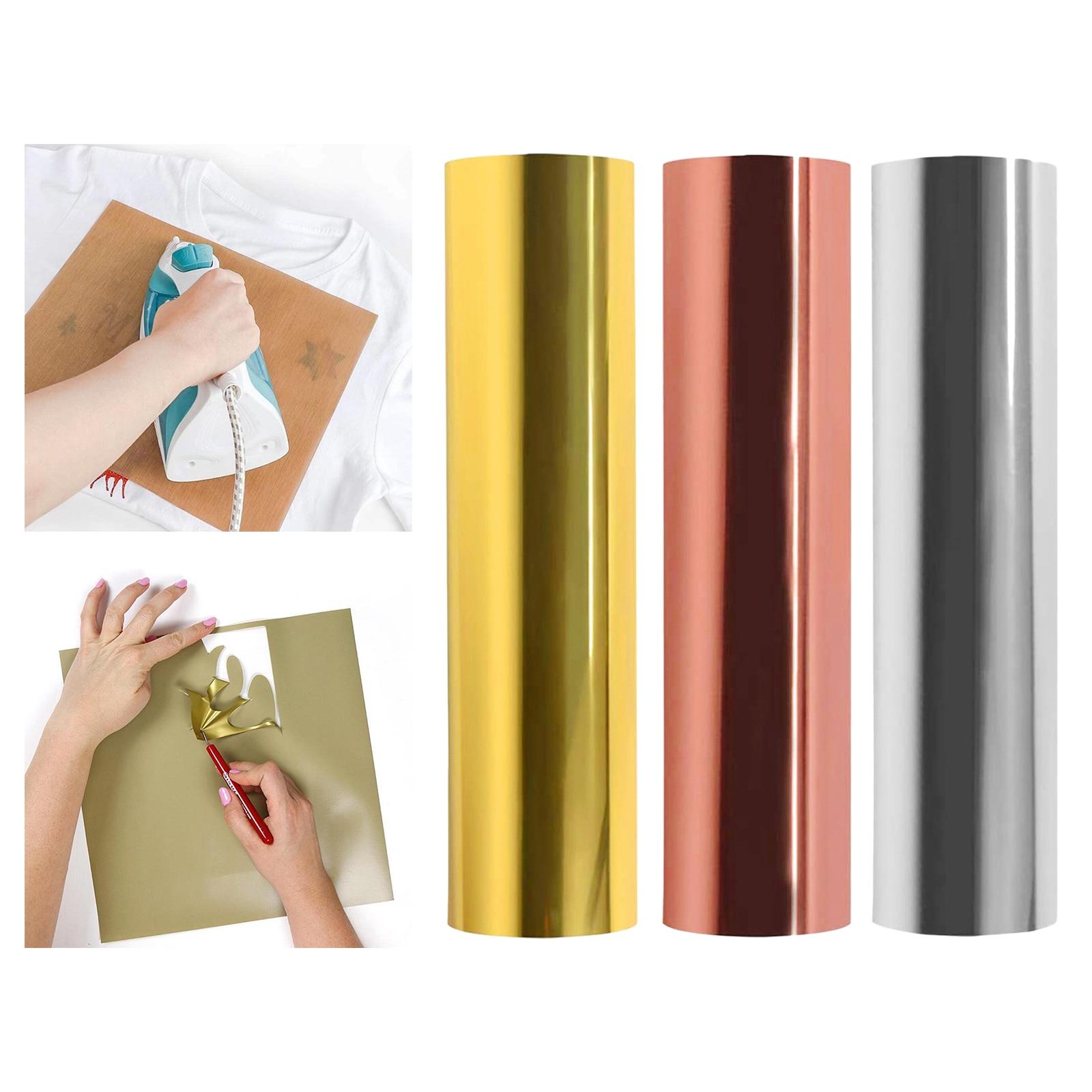 Голографическая теплопередающая виниловая рулон 30x100 см HTV металлическая фольга для самостоятельного изготовления футболок или тканей, дек...
