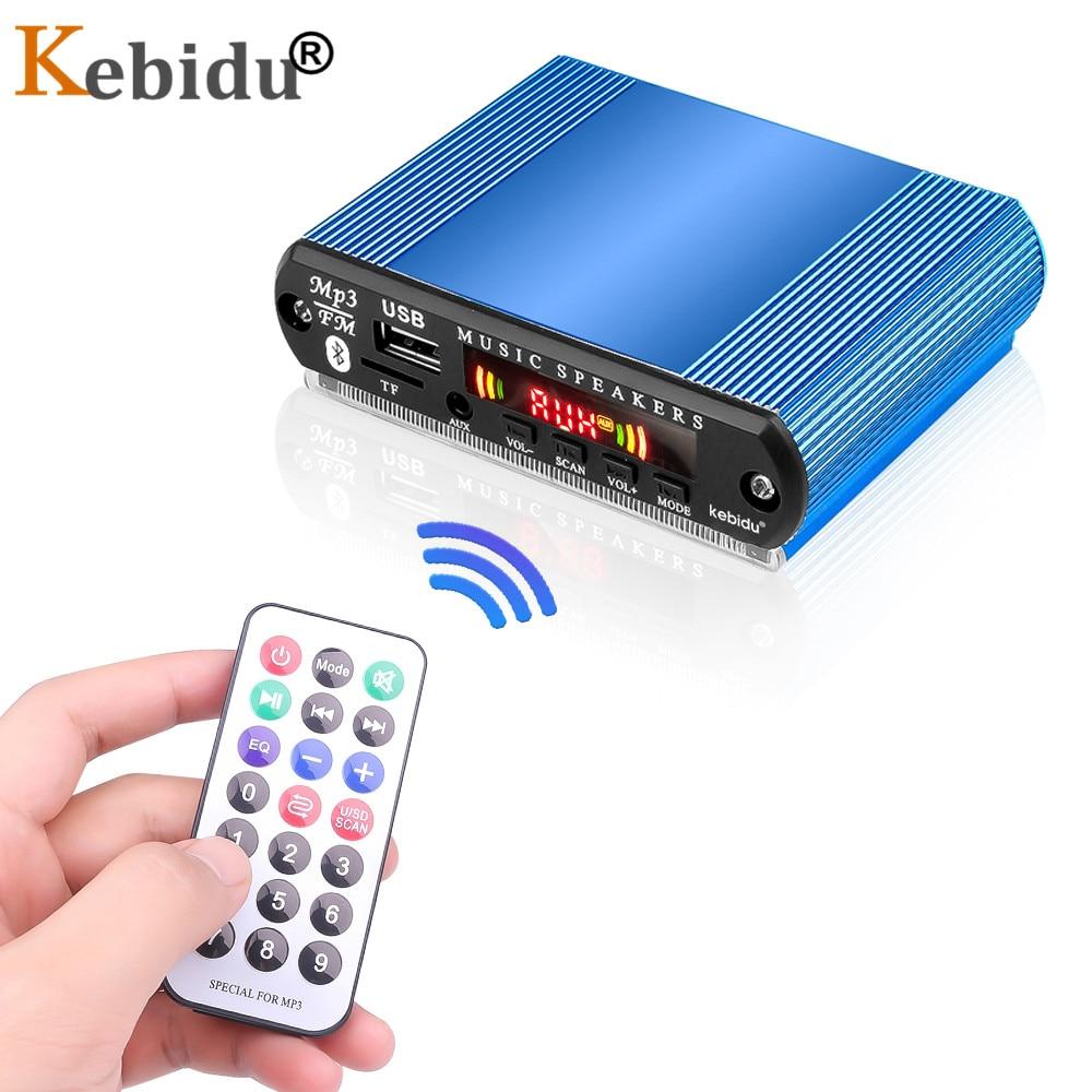 KEBIDU USB/TF/FM Audio Module Bluetooth MP3 Decoder Board With Aluminum Shell Box Support Call Recording Color Screen