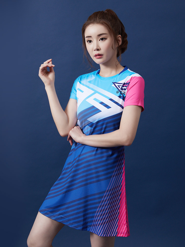New Badminton Wear Women's Quick-drying Breathable Tennis Dress Slim Sportswear Dress Sport With Safety Shorts