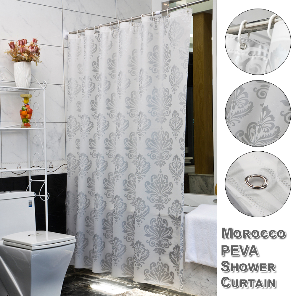 PEVA Morocco Bathroom Curtains Bathing Shower Curtain Waterproof with Hooks Anti-mould anti-bacterial For Home Kitchen Room D30
