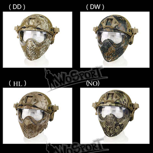 Image 5 - Volledige Gezicht Tactical Combat Helm Met Masker Militaire Airsoft Schieten Hoofd Beschermende Helmen Jacht Cs Wargame Helmen Masker