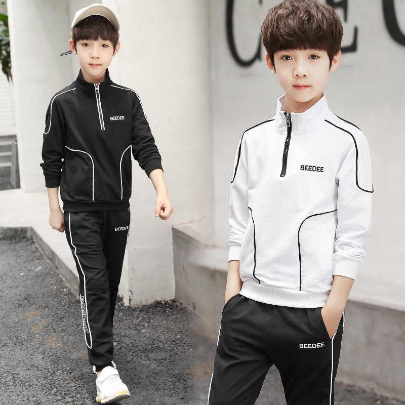 2pc Kids Boys Girls Tracksuit Toddler Tops Shirt Pants Outfits Sets Casual Suit