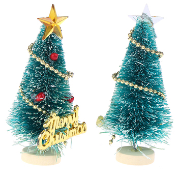 1: 12 DIY Christmas Tree Small Pine Tree Mini Trees Placed In The Desktop Home Decor Christmas Dollhouse Decor Kids Gifts 1
