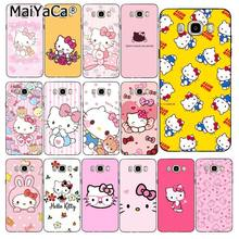 Maiyaca Hello Kitty Ponsel Case Kembali Cover untuk Samsung Galaxy J7 J6 J8 J4 J4Plus J7 Duo J7NEO J2 J7 prime(China)