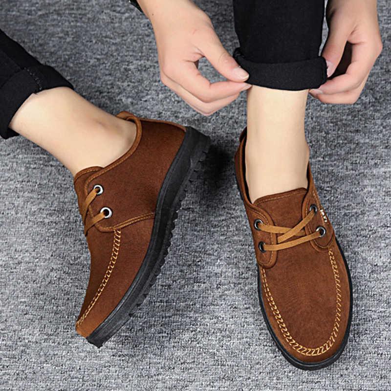 ผู้ชายรองเท้าสบายๆแฟชั่นรองเท้า 2019 ฤดูใบไม้ร่วงใหม่แฟชั่นสบายๆรองเท้าผ้าใบผู้ชายรองเท้ารองเท้า