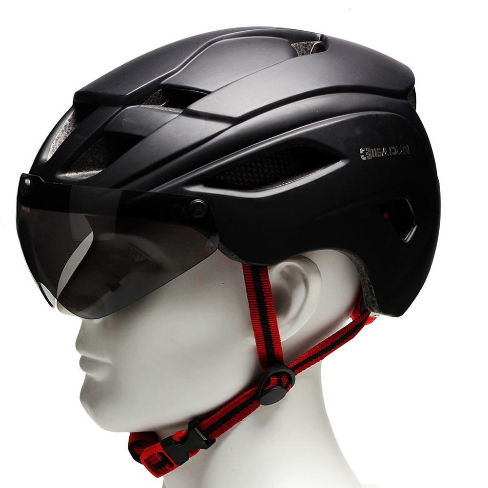 Outdoor Cycling Sports Helmets with Magnetic Lens Breathable Adjustable Safety Head Protective Helmet Caps for Bike Bicycle