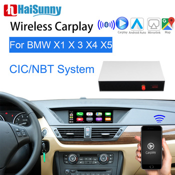 Wifi Wireless BMW CIC NBT Carplay For E84 F25 F26 E70 E71 F48 F15 Multimedia Player Video Interface GPS Navigation Android Auto image