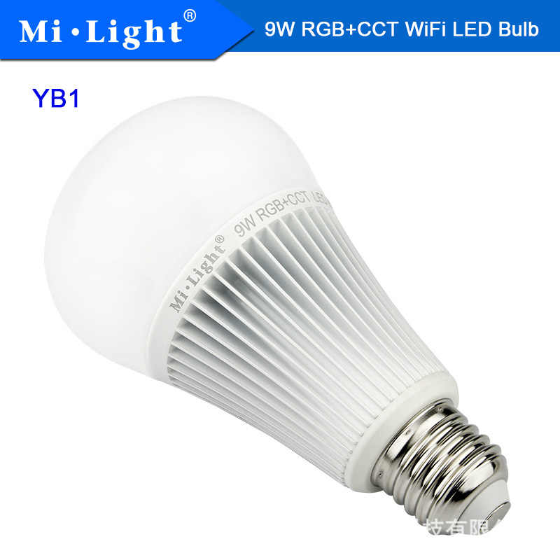 9W Wifi Rgb + Cct Led Lamp Milight YB1 2.4G Draadloze Led Lamp AC100-240V 2700K-6500K Dimbare 2 In 1 Smart Miboxer Led Licht