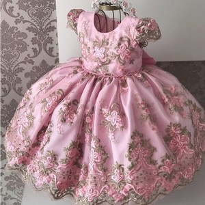 Formal Baby Girl Birthday Party Dress 2019 Christening Size 6 7 8 Children Clothing Ball Princess Kids Dresses for Girls Clothes(China)