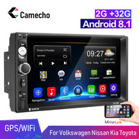 Camecho 2 din Android Car Radio 7 '' HD LCD Touch Screen Autoradio Multimedia Player 2G +16G 2DIN ISO Power Auto audio Car Ster