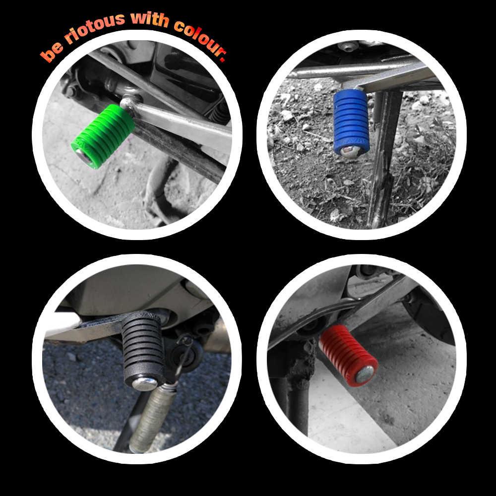 Evrensel ayaklı sol vites kolu ayak pedi pedalı ayak Peg kapak motosiklet aksesuarları silika jel siyah/mavi/Kırmızı/yeşil