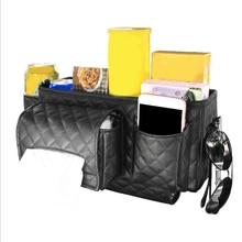 Car Back Seat Organizer Bag Multi Pocket Hanging Pouch Leather Storage Bag