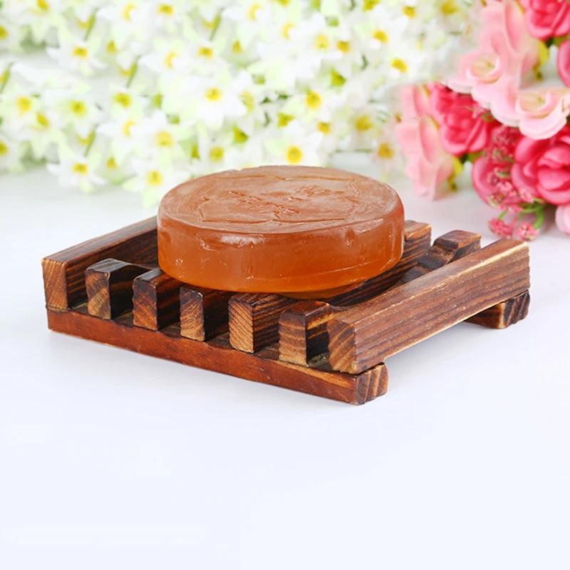 Soap Dish Bar Holder Bath Shower Tray Drain Bath Soap Storage Plate Rack