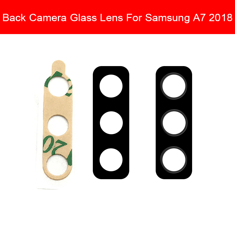 Back Rear Camera Glass Lens Cover For Samsung A7 2018 SM-A750F Camera Glass Lens Cover With Adhesive Replacement Repair Parts