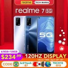 [Prawdziwe zdjęcie] realme 7 5G 6GB/8GB 128GB globalna wersja Dimensity 800U 120Hz wyświetlacz 48MP kamera 5000mAh bateria 30W Dart Charge