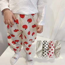 Newborn Baby Pants Girl Boy Mid Waist Leggings Cotton Clothes Toddler  Fruit Prints Anti-mosquito Pants Soft Casual Long Pants