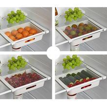 Refrigerator Organizer Drawer Basket Refrigerator Pull-out Fresh Spacer Rack Layer Storage Drawers G7S3