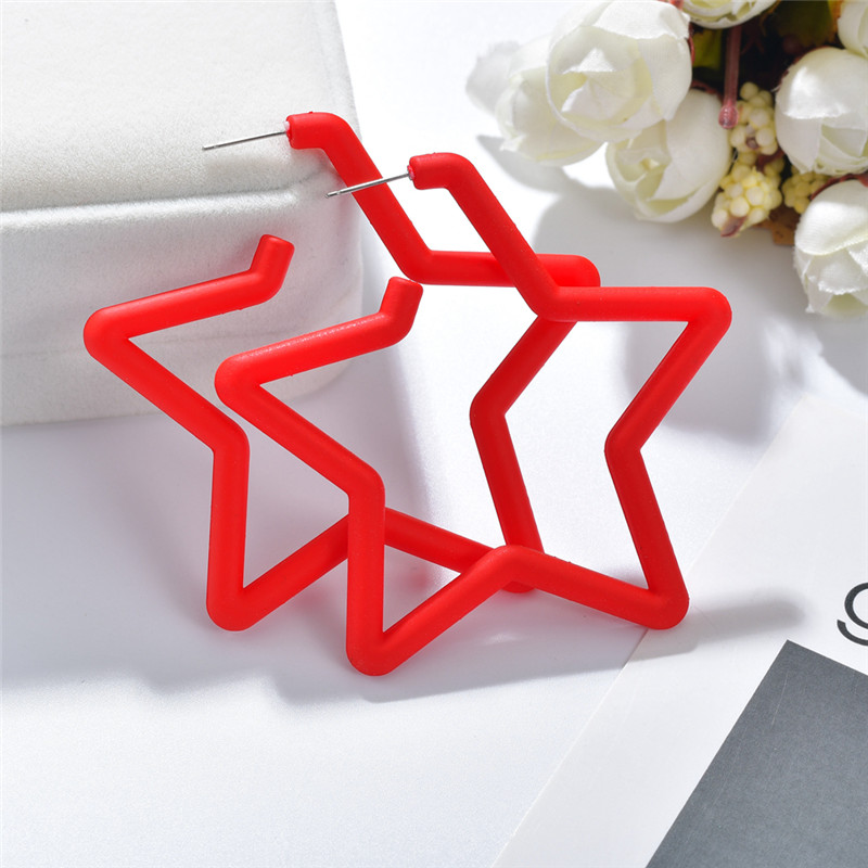 H9e064d37982d449b920d77792ee6f7efk - 2019 New Resin Acrylic Drop Dangle Earrings For Women Bohemian Geometric Red Fashion Pendant Earring Wedding Jewelry