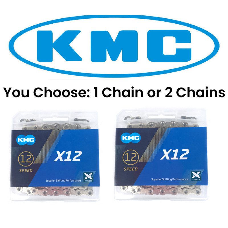 KMC X12 Silver MTB Mountain Bike Road Bicycle Chain 126L 12 Speed Magic Links With Original