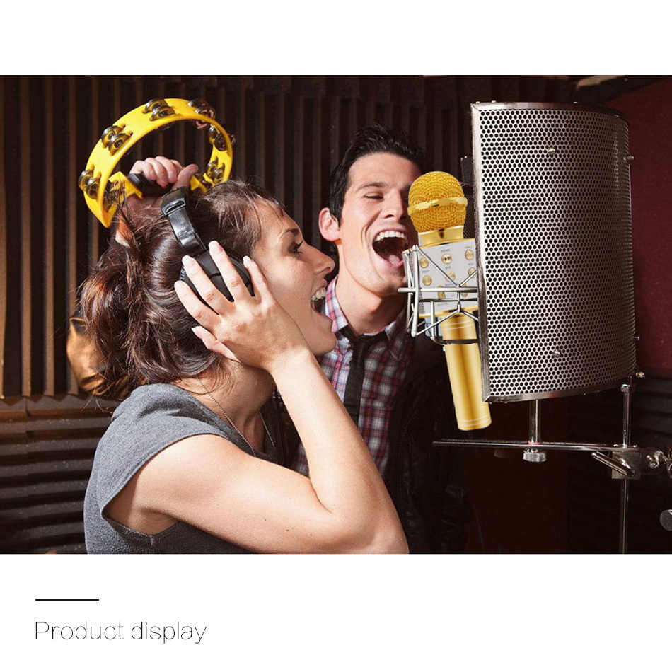 Micrófono Bluetooth WS-858 micrófono inalámbrico de mano para Karaoke reproductor USB KTV Altavoz Bluetooth micrófono para grabar música WS858