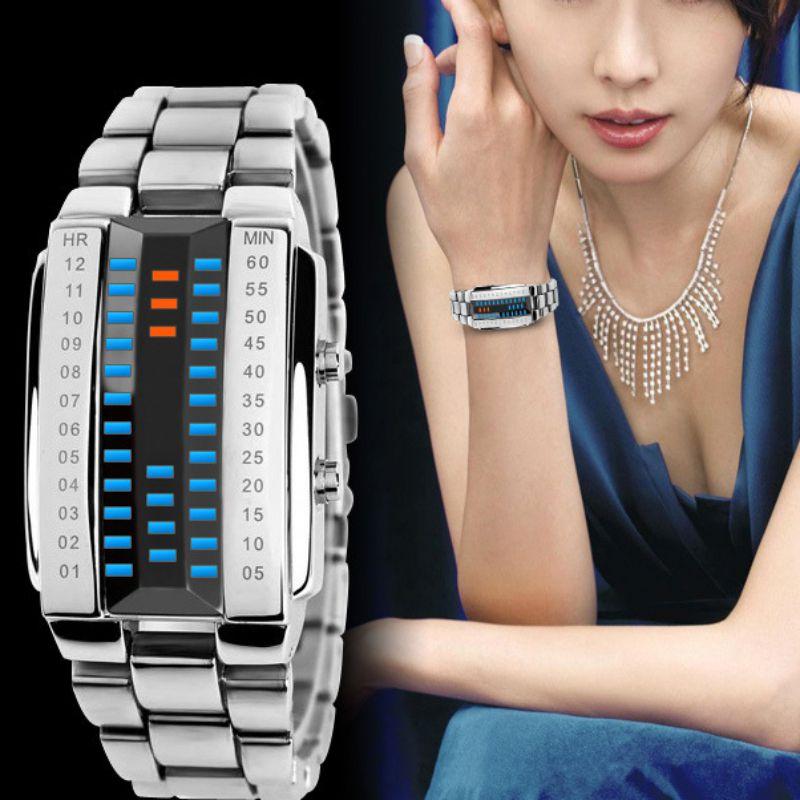 Watches Couples LED Digital Watch Men Women Lovers Sport Fashion Clock Top Brand Luxury Alloy Strap Unisex Reloj Hombre