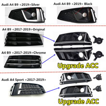 2pcs car racing grille for hyundai solaris 2 grill 2016 2018 emblems abs radiator sliver chrome front bumper upper replacement 2pcs Car Front Bumper for AudiA4 2017 2018 2019 S4 S-line B9 Fog light Grille Cover Fog lamp Grill upgrade Acc Grill 8W0807681F