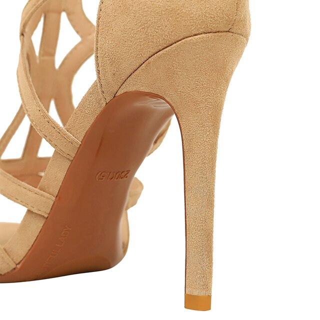 11cm  Roman Sandals Peep Toe Sandals High Heels 6