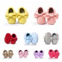 18 colors Baby Girls Shoes Tassels PU Leather Waterproof Baby Shoes Newborn Moccasin Soft Infants Prewalker 2020