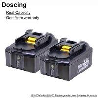 Baterias de substituição bl1860  18v 6000mah bl1860 com indicador de led para makita bl1850 bl1840 bl1830 bl1850 bl1820