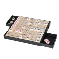 Double Sided Portable Folding ChessBoard Magnetic Chinese Chess Set Weiqi Go Game Play Toy Board Game Party Fun Birthday Gift