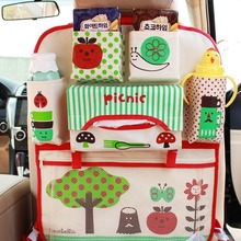 Universal Car Seat Back Bag Carton Hanging Bags Organizer Storage Holder Pocket Waterproof Baby Kids Basket Stroller Accessories cartoon multifunctional waterproof baby stroller bag baby universal hanging basket car seat storage bag stroller accessories
