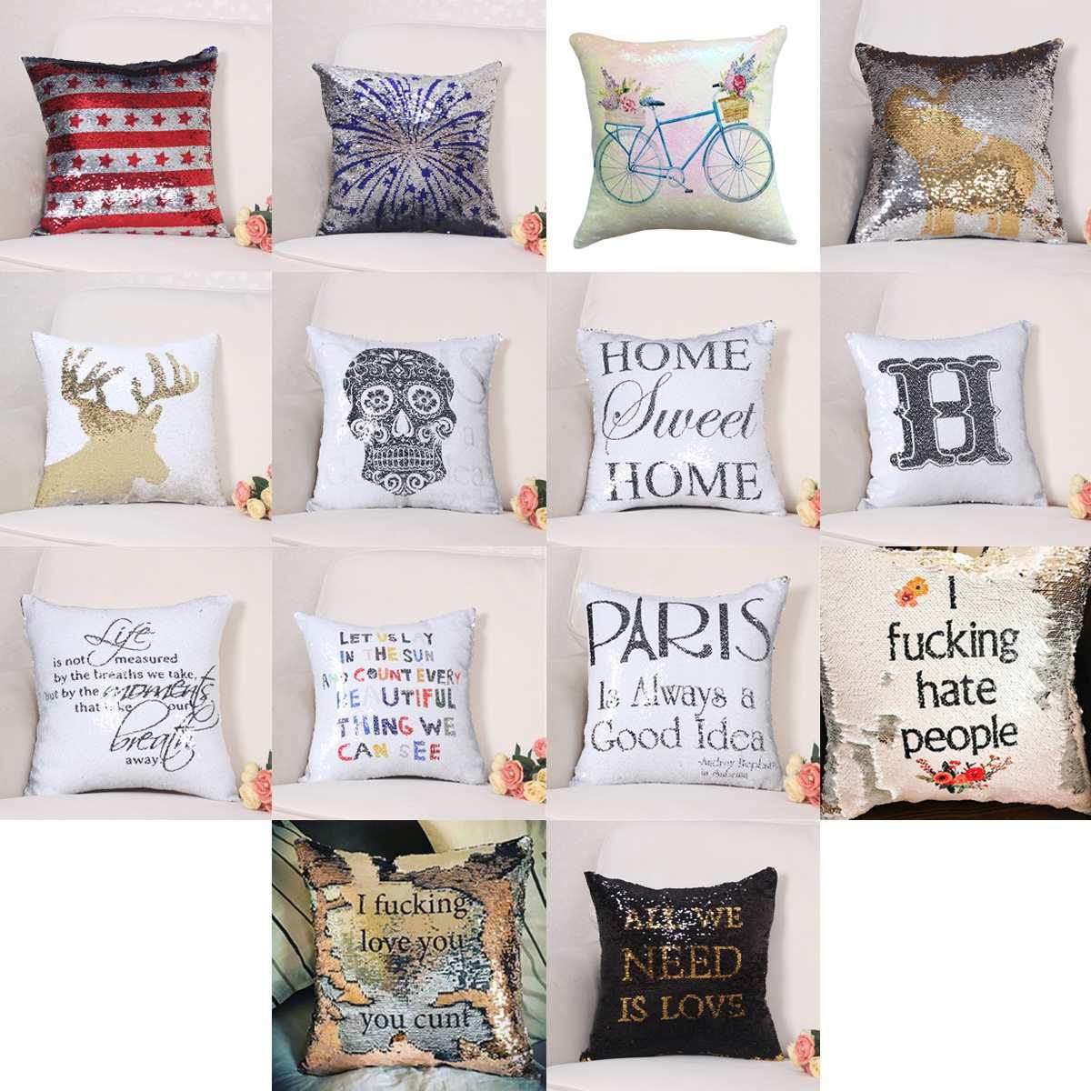 cushions many colors fashion glitter