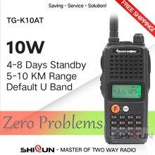 10W Quansheng TG K10AT Walkie Talkie 10Km Tg K10AT Radio Comunicador 10Km UHF400 470MHz Optioneel Vhf Band Twee  way Radio 4000 Mah