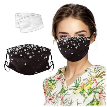 Bling Glitter Reusable Mouth Face Mask Diamond Sparkle Sequin Anti Haze Dustproof Mask With Filters Protection Cover Respirator